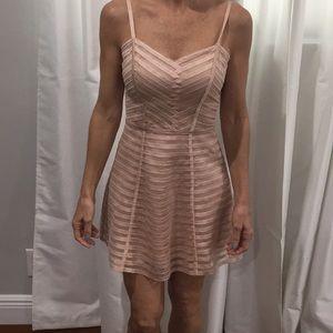 Bebe light peach dress